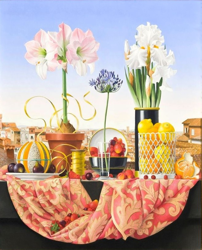 James Aponovich   (b.1948) — Still Life with Agapanthus, 2011