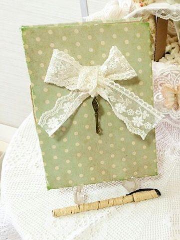 green polka dot vintage notebook