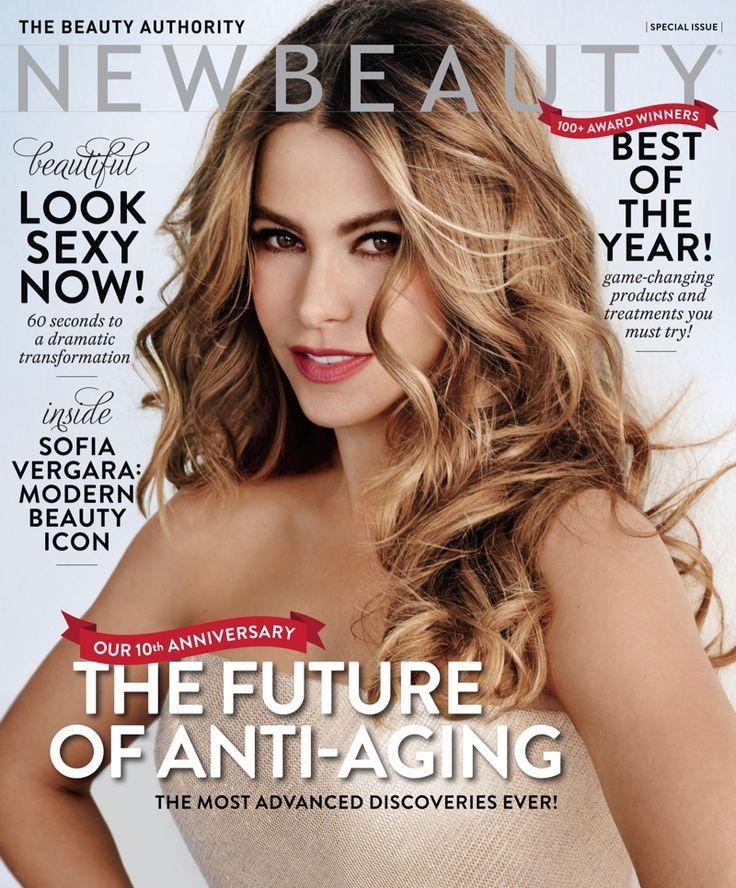Sofia Vergara Covers NewBeauty, Says She Doesn't Want to Age //// I guess Joe Manganiello is doing her good