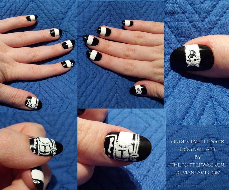 UNDERTALE: Lesser Dog Nail Art by TheFutterwacken - The 25+ Best Dog Nail Art Ideas On Pinterest Dog Nails, Nail Art
