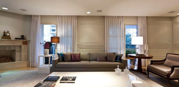 Apê neoclássico ganha interiores pautados por cores neutras e molduras nas paredes - Casa e Decoração - UOL Mulher