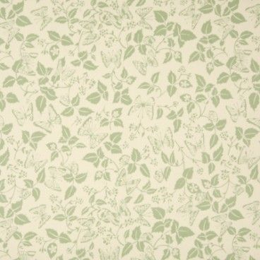Butterfly leaf green oilcloth