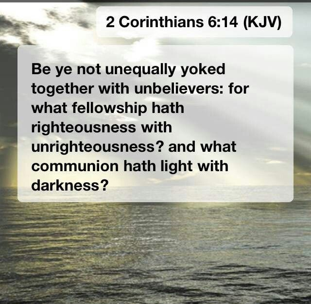 unequally yoked bible verses