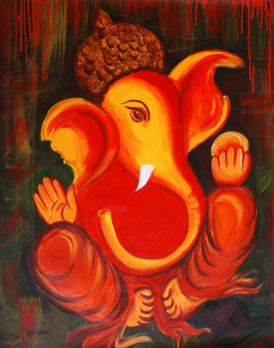 Ganesha in an abstract form
