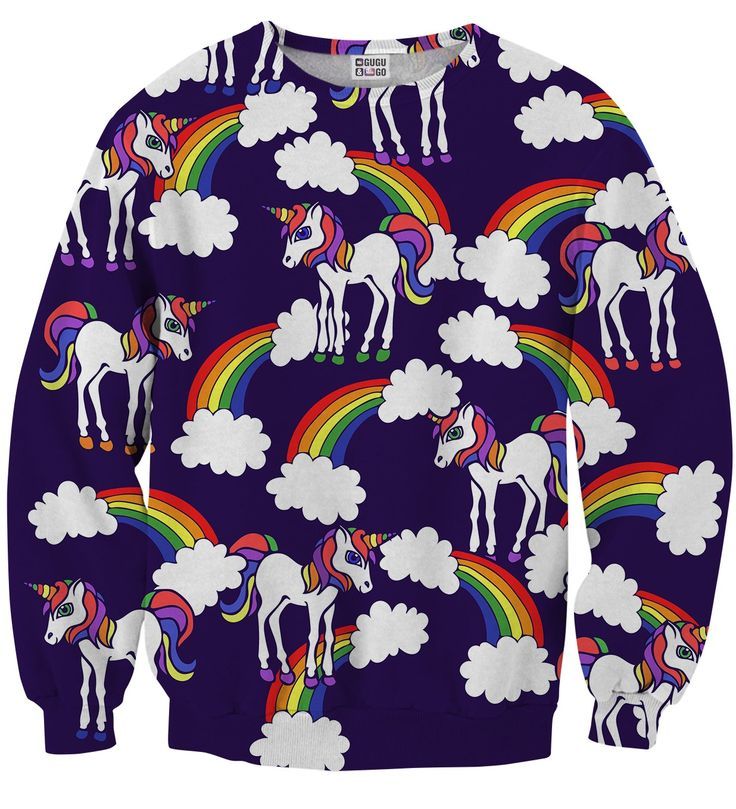 Rainbow Unicorns sweater, Mr. GUGU & Miss GO