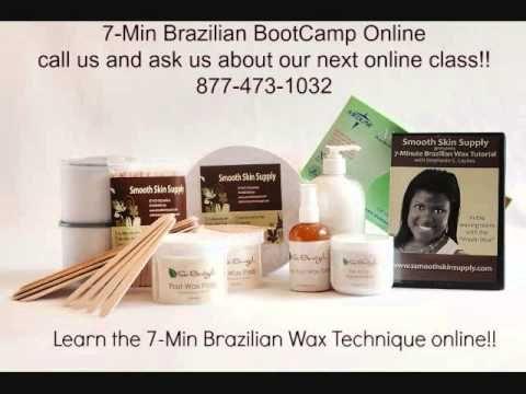7-Min Brazilian Wax Online Education for Estheticians! Learn the 7-Min Brazilian wax technique online! Call us for more info 877-473-1032 #se-brazilwax #7-minbrazilianwax #brazilianwaxing #smoothskinsupply