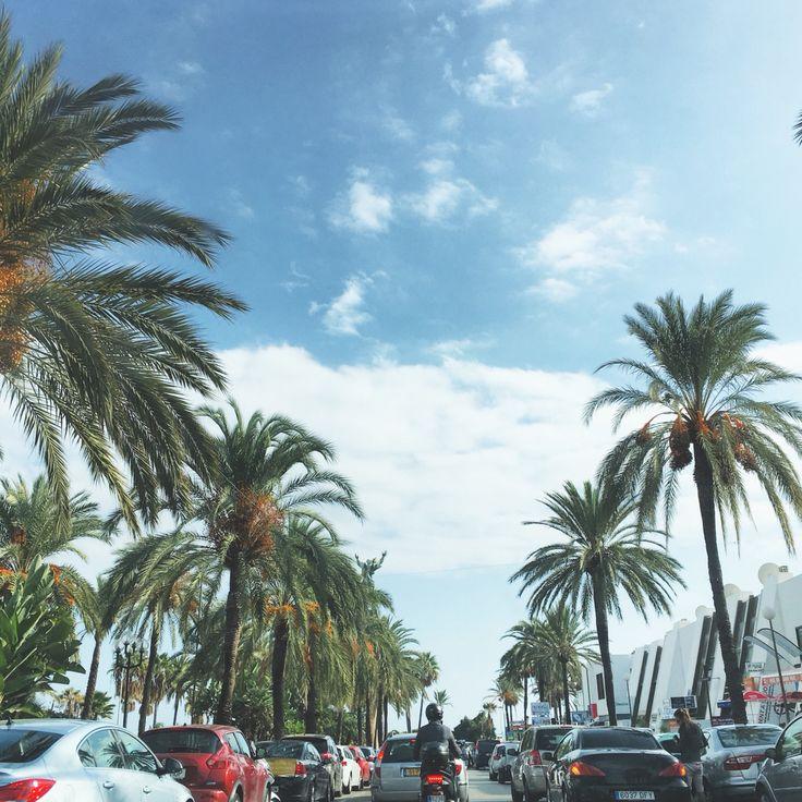 Playa de Puerto Banús #everythingisawesome #color #street #palmtrees #ilovespain #marbella #malaga #trip #traffic #marbellalife #marbellalifestyle #marbellaoldtown #spain