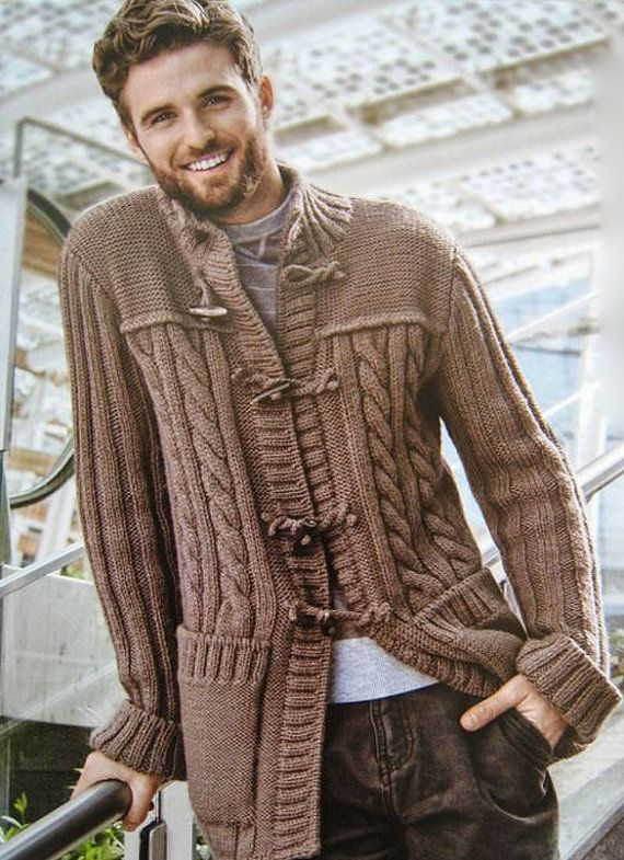 MADE TO ORDER men hand knitted cardigan men's by BANDofTAILORS