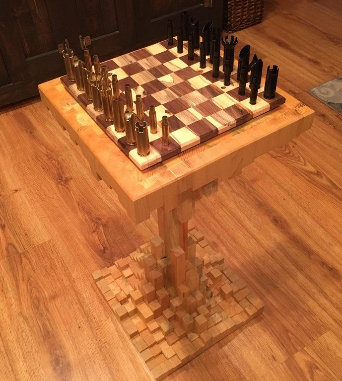 Inspired By Another Pin My Crate Coffee Table Has A Diy Chess
