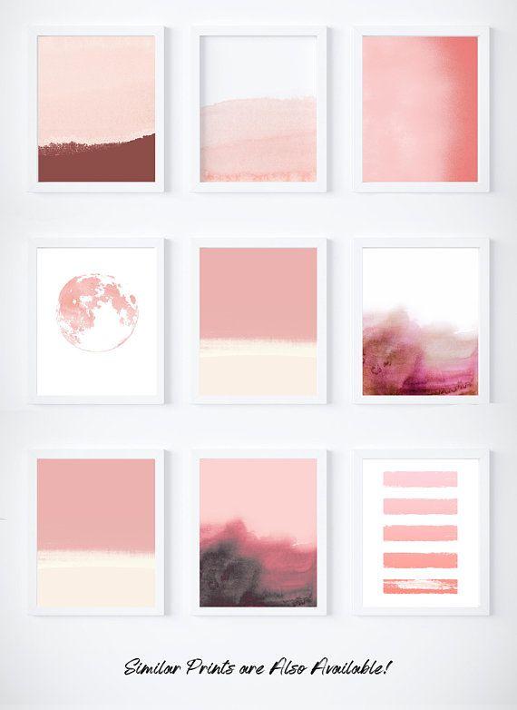 Pale Pink Print Blush Pink Art Print Light Pink Wall Art Pink Abstract Art Etsy Art Prints Geometric Art Prints