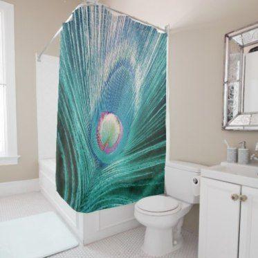 Feather Dancer Shower Curtain  #peacocks  #bathroom