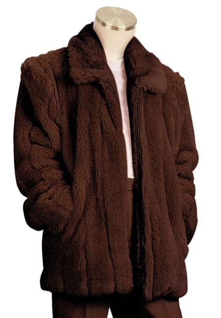 Mens Faux Fur Coat Brown just for US $199 only, check this out.Buy more save more. Buy 3 items get 5% off, Buy 8 items get 10% off.