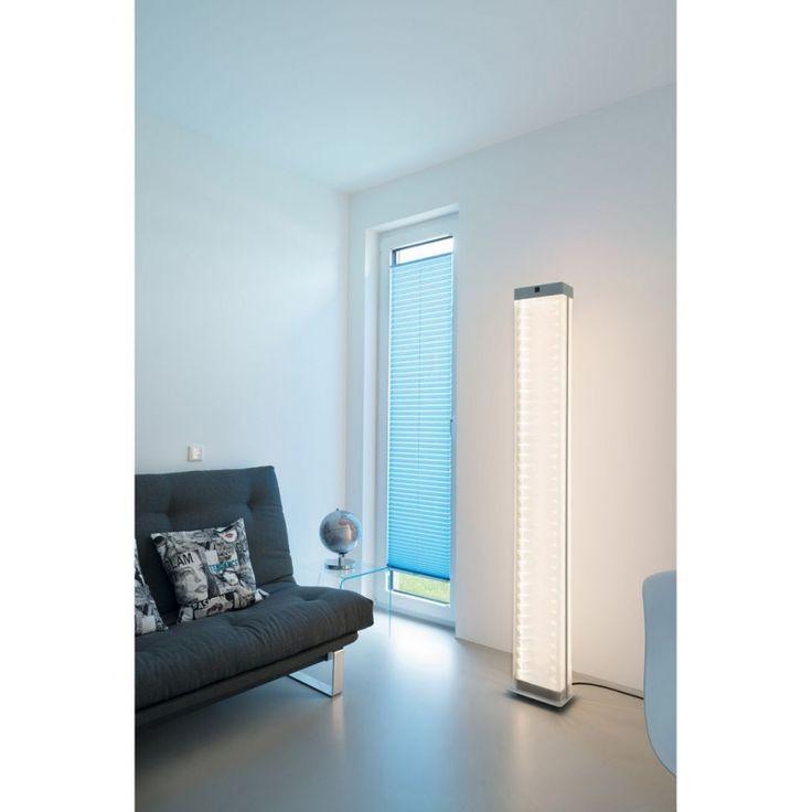Design LED Stehleuchte I-Line Touch silbergrau stylische Wohnraum und Bodenleuchten #bodenleuchte #stehleuchte #slv #innenleuchten #standleuchten #lampe #licht