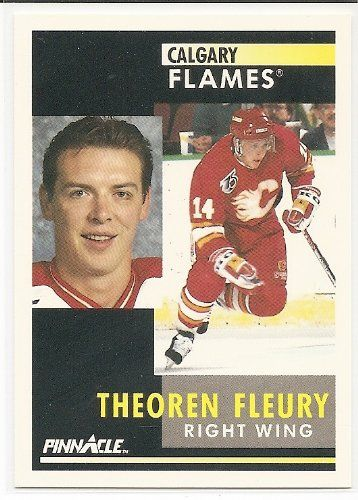 Theoren Fleury 1991-92 Pinnacle Calgary Flames Card 190 * This is an Amazon Affiliate link. More info could be found at the image url.