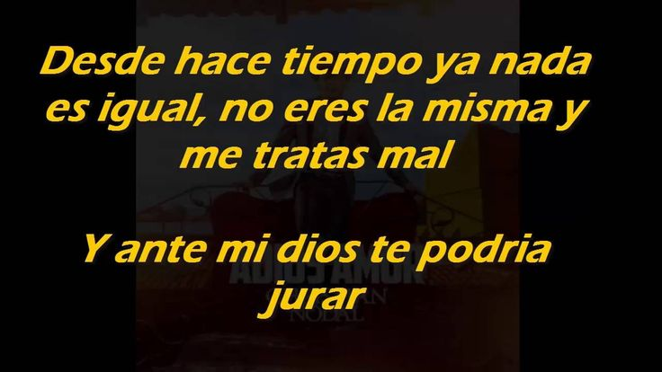 Adios Amor •Christian Nodal• (LETRA)