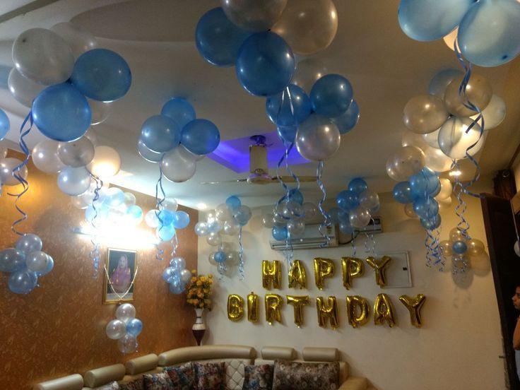 Geburtstag Ballon Dekoration zu Hause. Geburtstagsfeier ...