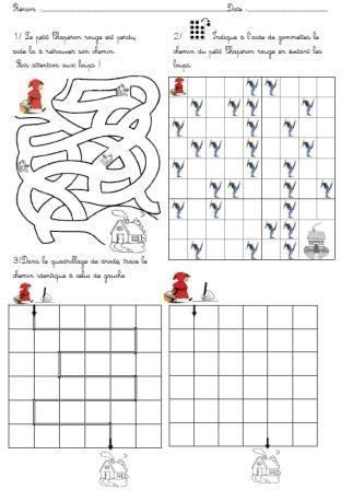 Thème de mars: Le Petit Chaperon Rouge - Activités pour la Grande Section Maternelle