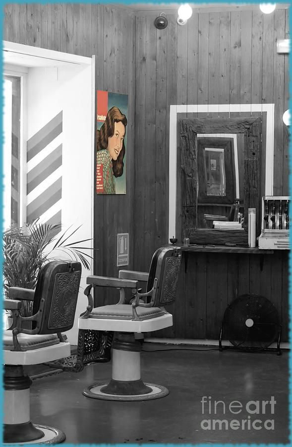 Accessories & furniture,Astonishing Barber Shop Interior Art Photographs By  Sophie With Black And White