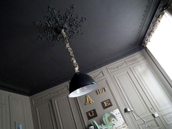 Les 25 meilleures id es de la cat gorie plafond noir sur pinterest carrelag - Moulure appartement haussmannien ...