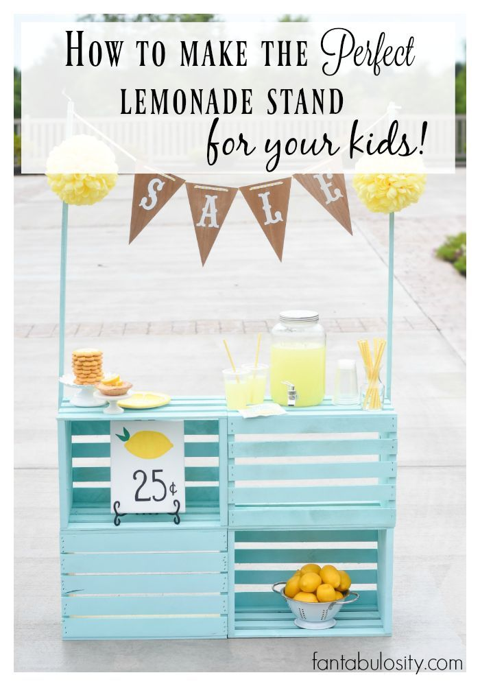 How to make the perfect lemonade stand for your kids
