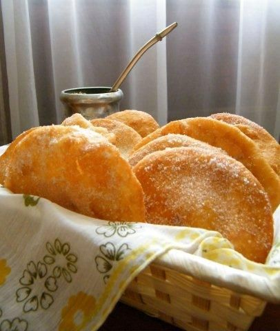 tortas fritas - fried bread similar to mexican sopapillas. Great rainy-day snack, perfect with mate