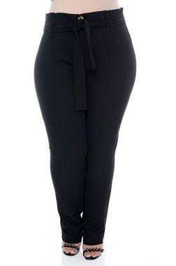 26fd52834 Calça Plus Size Chelly   bikinid   Plus size e Pants