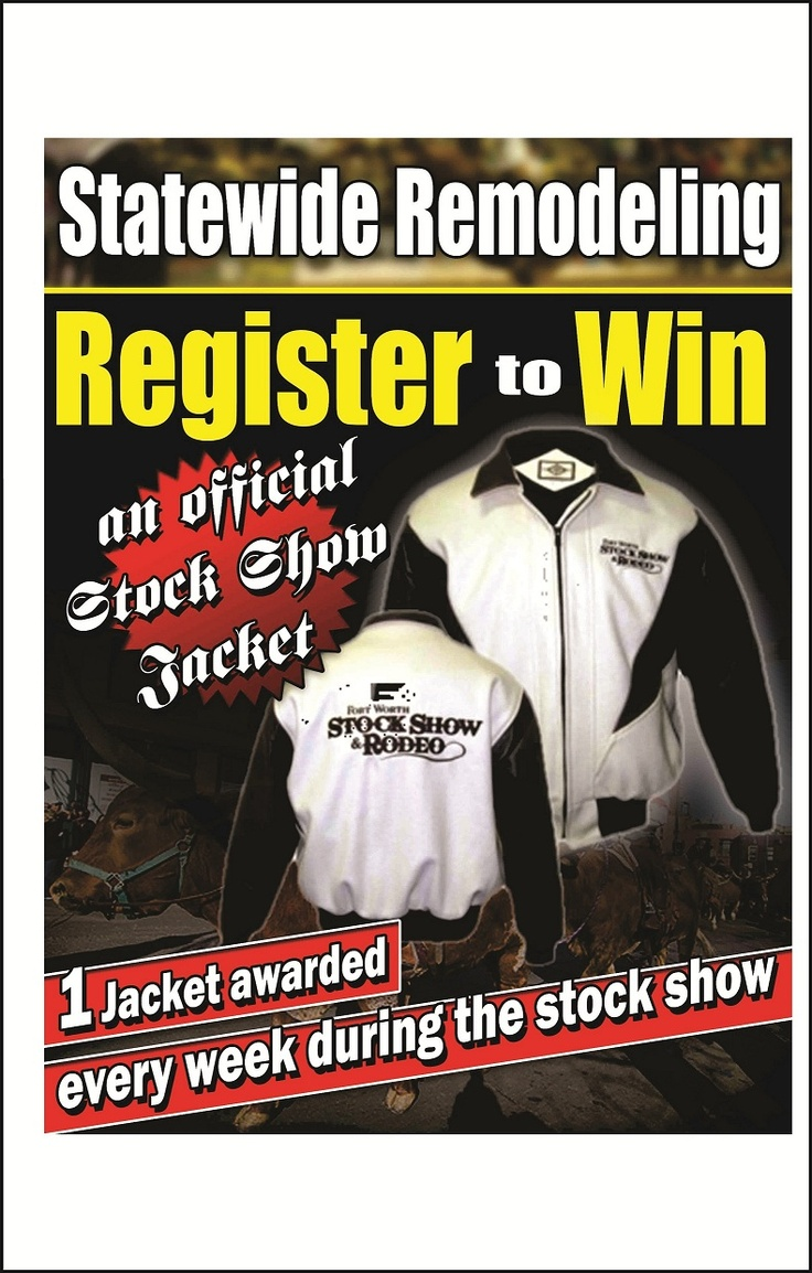 How would you like to win an Official Stock Show Jacket? We are giving away a jacket once a week for three weeks. This weeks drawing will be held Friday evening at our booth at  the Stock Show. Come see us!