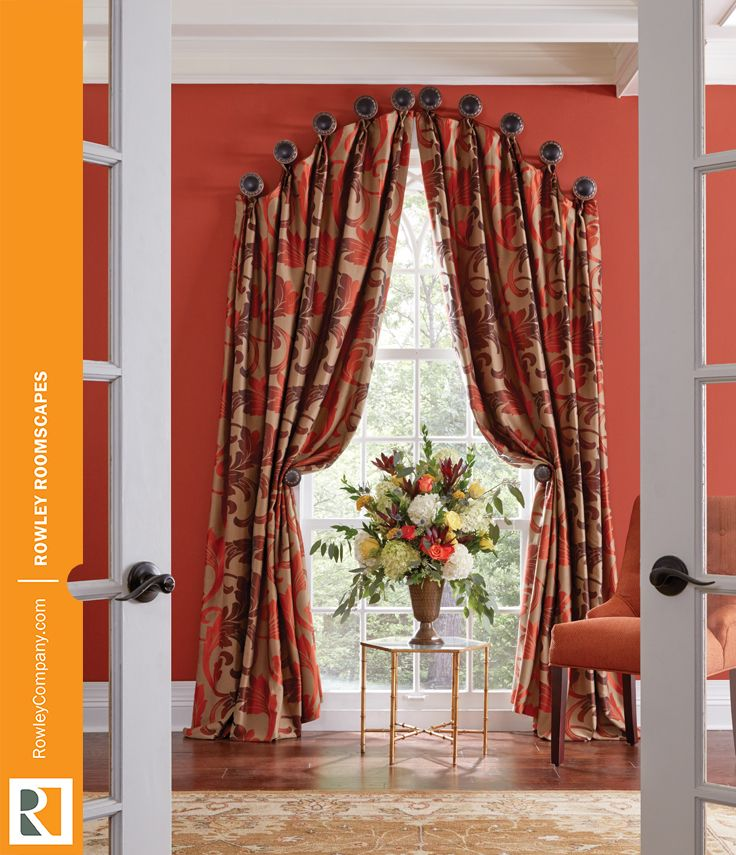 Best Arch Top Drapery Images On Pinterest Curtains Window
