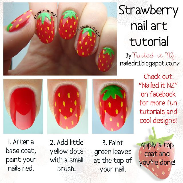 Best 25 strawberry nail art ideas on pinterest nail designs useful nail tutorials for spring and summer prinsesfo Gallery