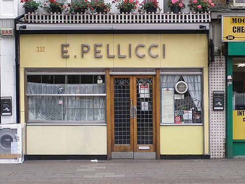 Pellicci, Bethnal Green Road. Thought to be the oldest caff in London.