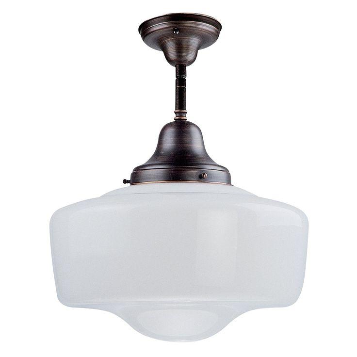 Dvi Dvp7511 Schoolhouse Semi Flush Ceiling Light Lowe S