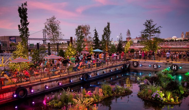 Spruce Street Harbor Park -   a pop-up park that is only open during summer. Haven't been but it looks whimsical af.