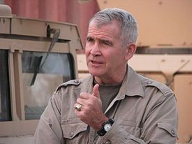 2016 US MILITARY: Oliver North, American journalist & Tv host, center of Iran-Contra Affair. Wkipedia