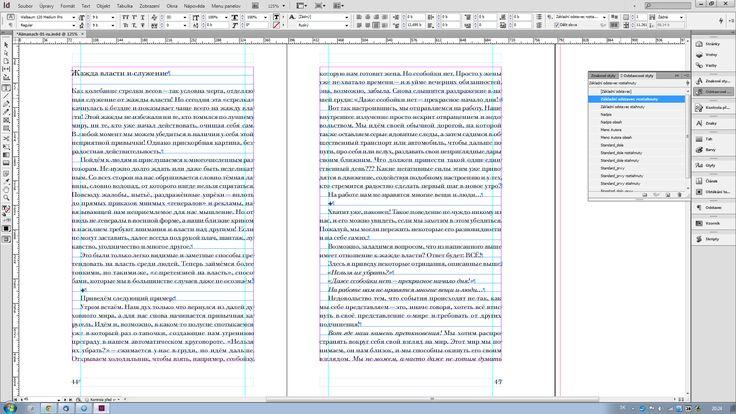 Úpravy východového riadka odseku v InDesign