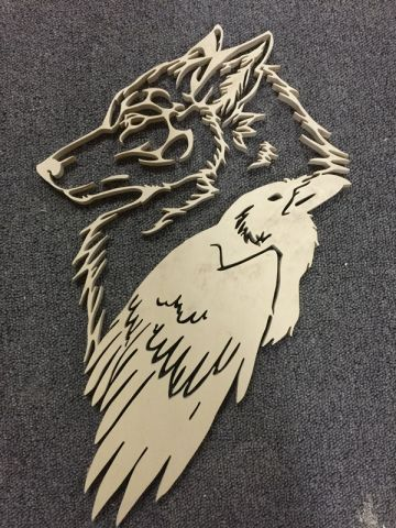 Crow and wolf - My Projects Past and Present 3 - User Gallery - Scroll Saw Village