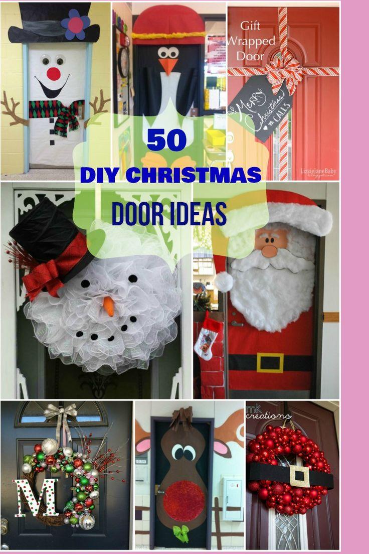 Christmas door decorations - Creative Unique Cute Christmas Door Ideas Best For Classrooms Kids Rooms