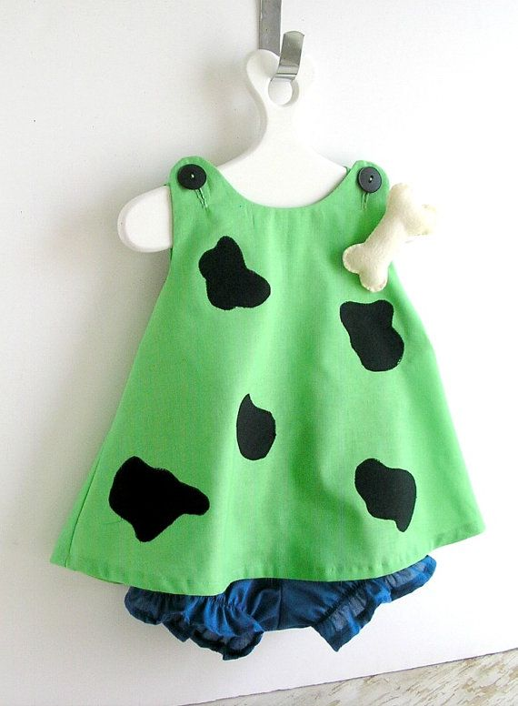 Baby and Toddler Green Pebbles Flintstone Costume by peapodray