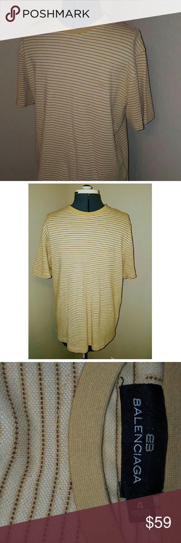 Crewneck striped Balenciaga mens Casual 100 % cotton sz 4 (med) Balenciaga Shirts Tees - Short Sleeve