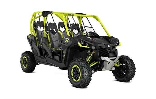 New 2016 Can-Am Maverick MAX X ds Turbo 1000R - Black & Green ATVs For Sale in Missouri. This package enables you to lead the pack with the most powerful four-seater sport side-by-side in the industry. Its 131-hp turbocharged engine option leads the way, and its rider-focused design and impressive handling provide a comfortable and confident ride.Highlights 131-hp Rotax® 976 cc Turbocharged V-twin engine with forged pistons, liquid cooled with integrated intercooler and Donaldson®…