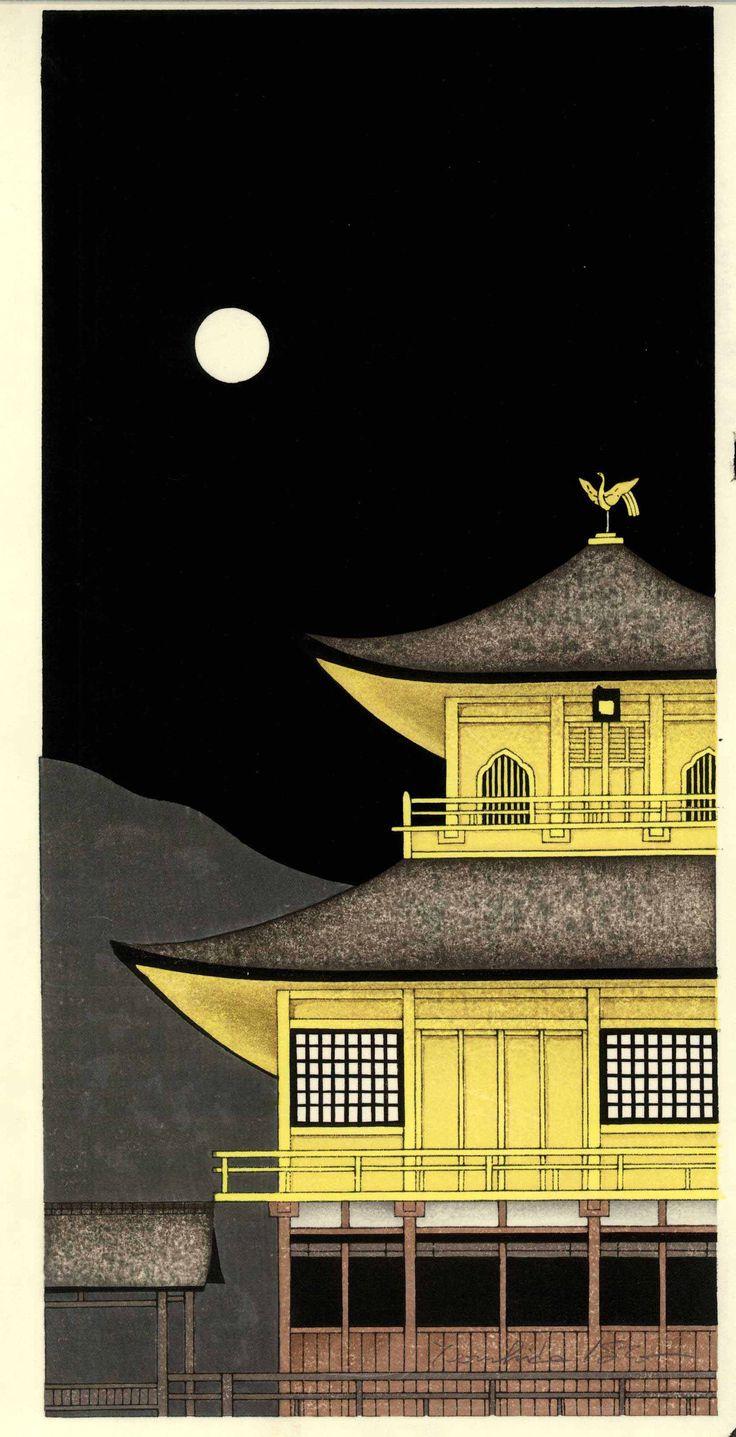 Kato Teruhide - Kinkaku-Ji Tsuki Akari (Kinkaku-Ji of moonlight ) Kyoto