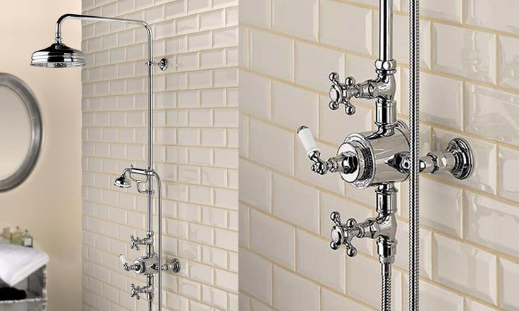 une colonne de douche retro du plus bel effet deco design chez nous pinterest. Black Bedroom Furniture Sets. Home Design Ideas