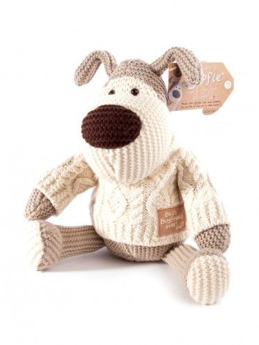 8 Inch Boofle Boyfriend Plush In Aran Knit Jumper