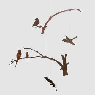Birds of a Feather Mobile - eclectic - mobiles - other metro - by Michele Varian Shop