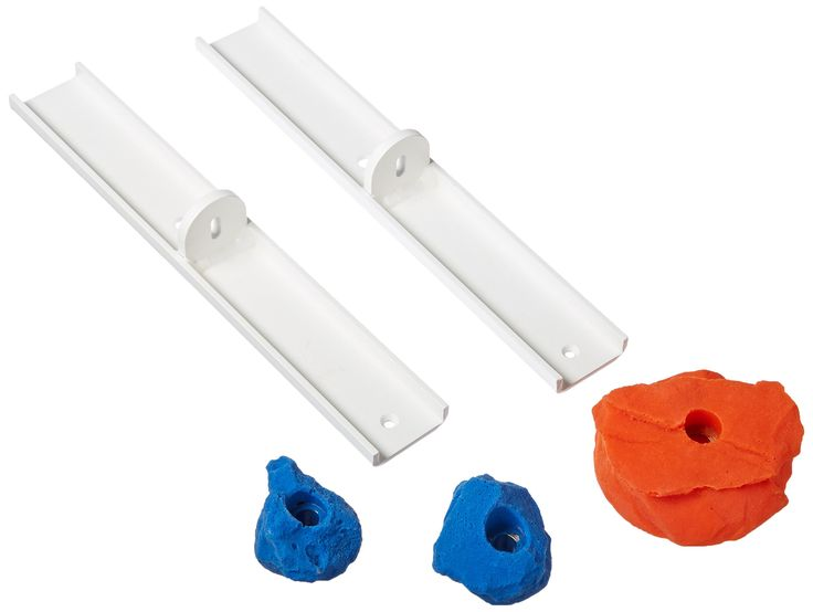 IceHoldz Dry Tool Wall Holds (Pack of 5). Mounts easily and quickly to indoor climbing walls. Great set of holds for a practice board. Stein pull holds guaranteed to never break. Dry-tooling holds made of polyurethane to withstand force of pick. Made in the USA.