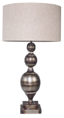 Zac Table Lamp.  Distressed antique bronze/gold finish.  H635mm.  BOYD BLUE - 02 9331 0099