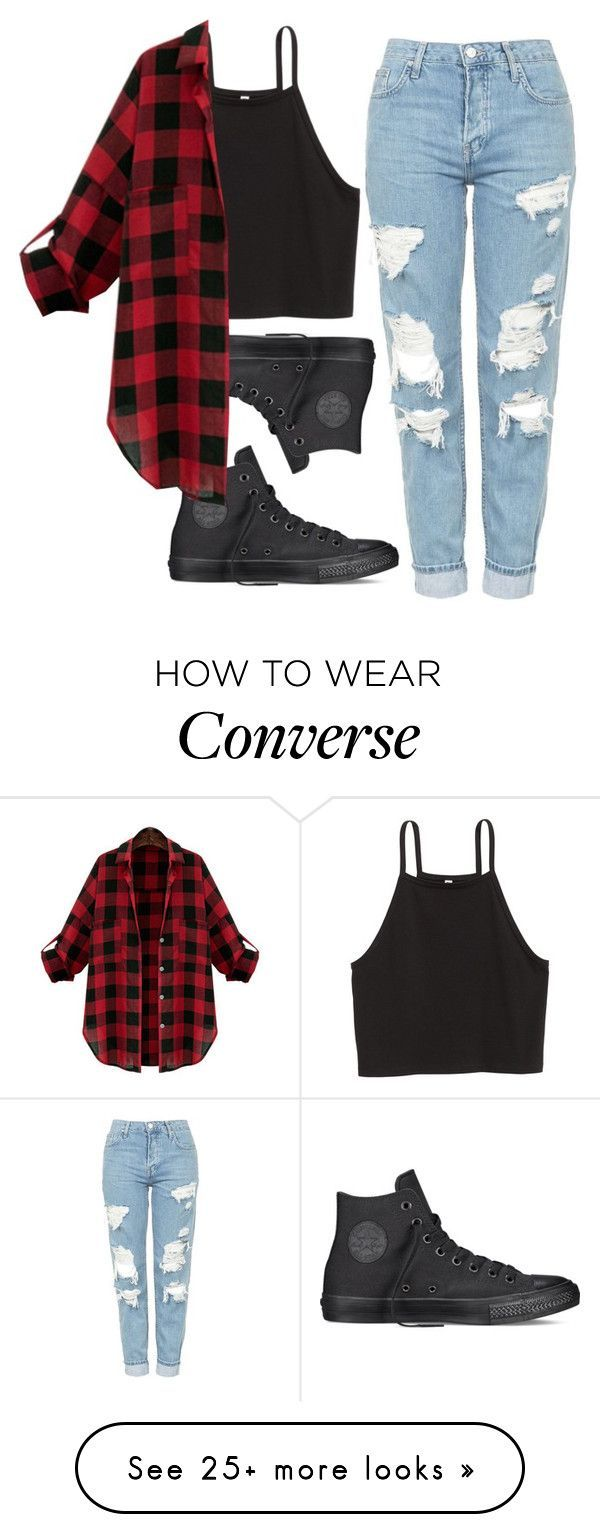 Cute Outfits Untitled #274 by miarojo on Polyvore featuring Topshop and Converse