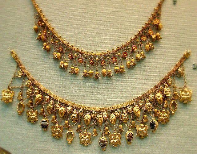 Etruscan gold Necklaces C.450BC