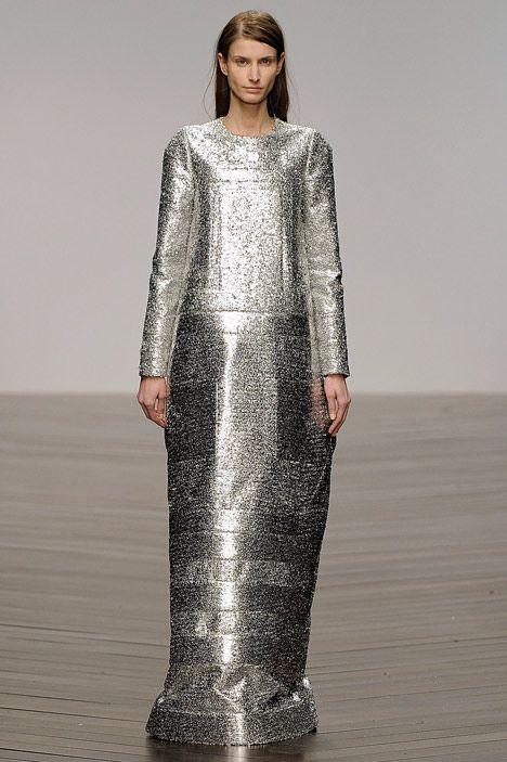Innovative Fashion Design - bold metallic neoprene dress; sculptural fashion // Sadie Williams