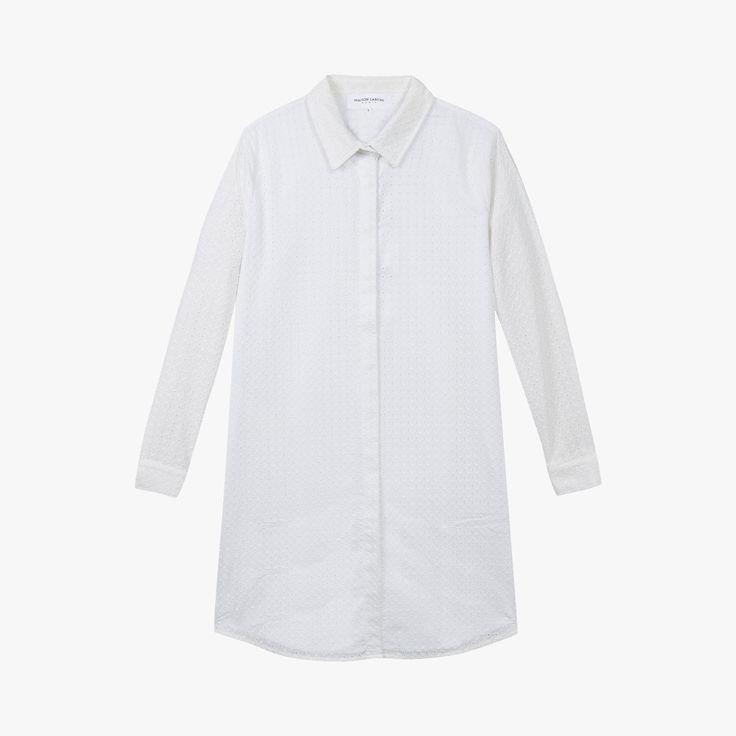 Robe chemise en broderie anglaise - MAISON LABICHE - Find this product on Bon Marché website - Le Bon Marché Rive Gauche