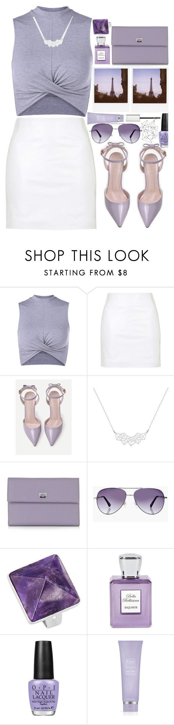"""""""Eiffel Tower"""" by jyellow-11 ❤ liked on Polyvore featuring Topshop, Polaroid, A Weathered Penny, Pineider, Boohoo, Bella Bellissima, OPI, Kate Somerville and Givenchy"""